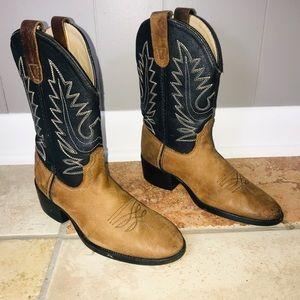 EUC Pocono Western Leather Cowboy Boots